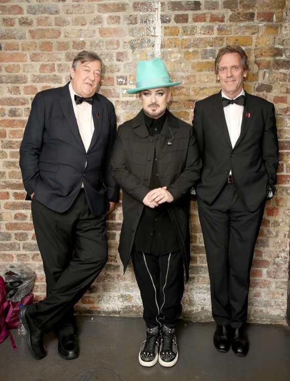 Stephen Fry, Boy George, Hugh Laurie