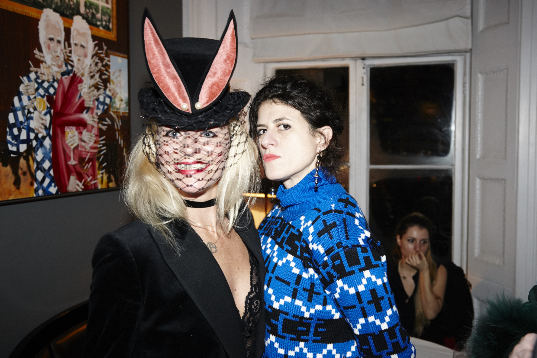 Milliner Victoria Grant and photographer Diana Gomez Coco De Mer Lingerie Playboy SS19 Party