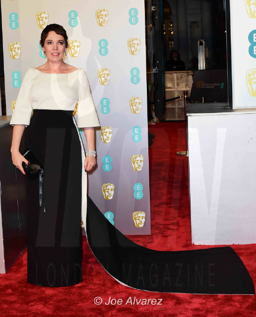 Olivia Colman The Favourite arriving at the BAFTA 2019 Awards © Joe Alvarez