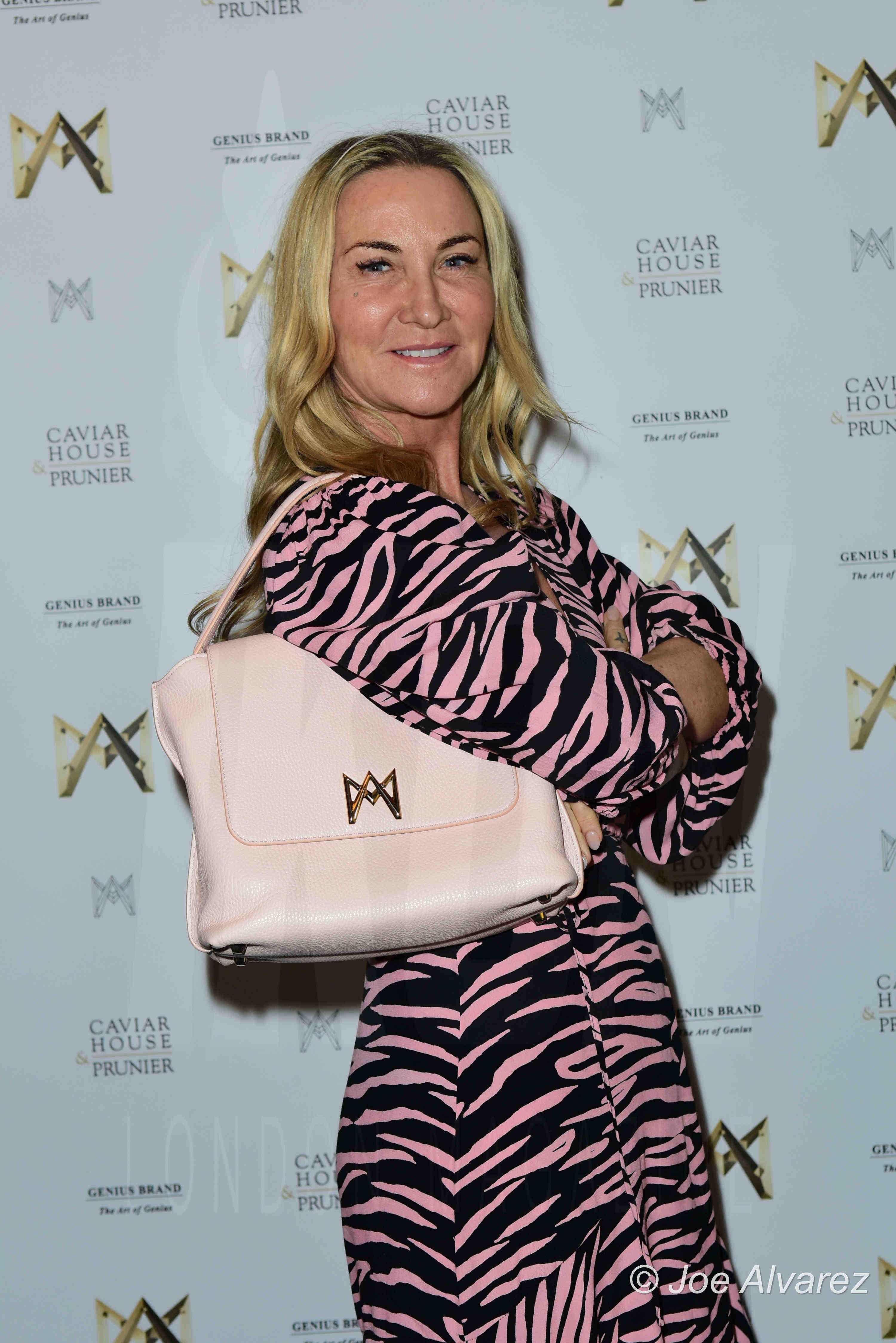 Meg Mathews AMA bags launch party, Caviar House, Piccadilly, London. Copyright © JOE ALVAREZ