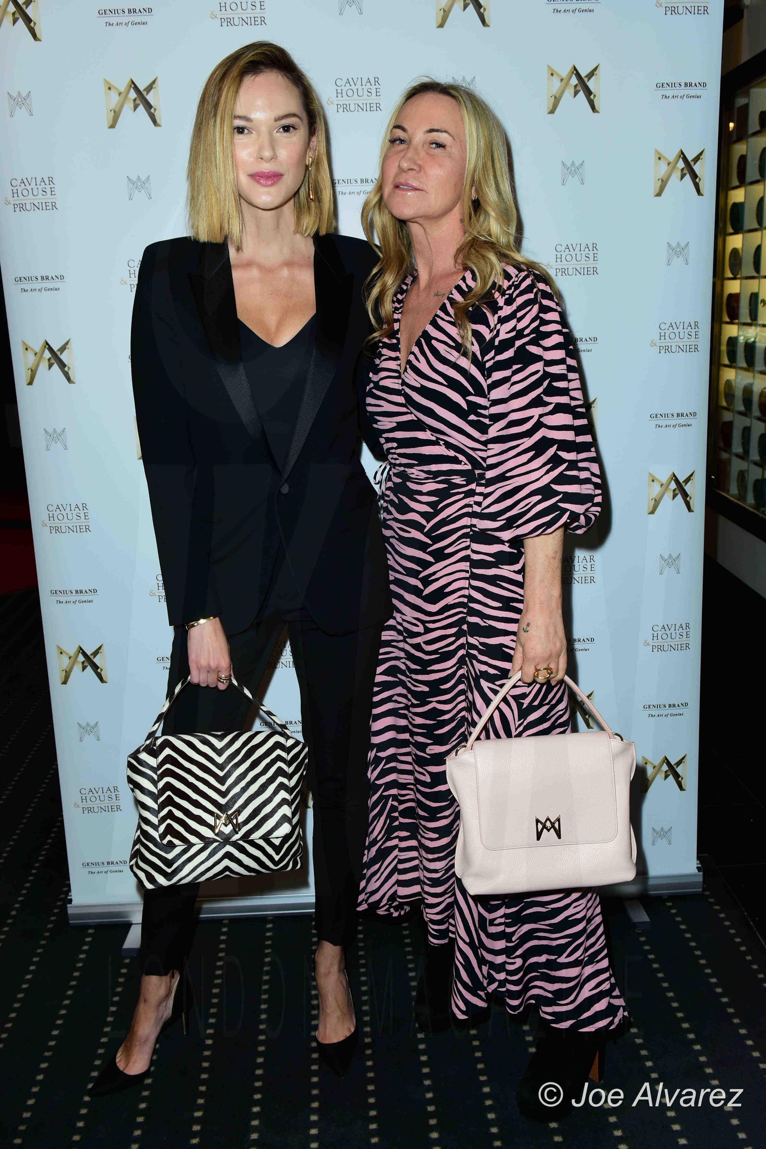 Anastasiia Masiutkina, Meg Matthews AMA bags launch party, Caviar House, Piccadilly, London. Copyright © JOE ALVAREZ