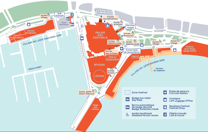 Cannes Film Festival map
