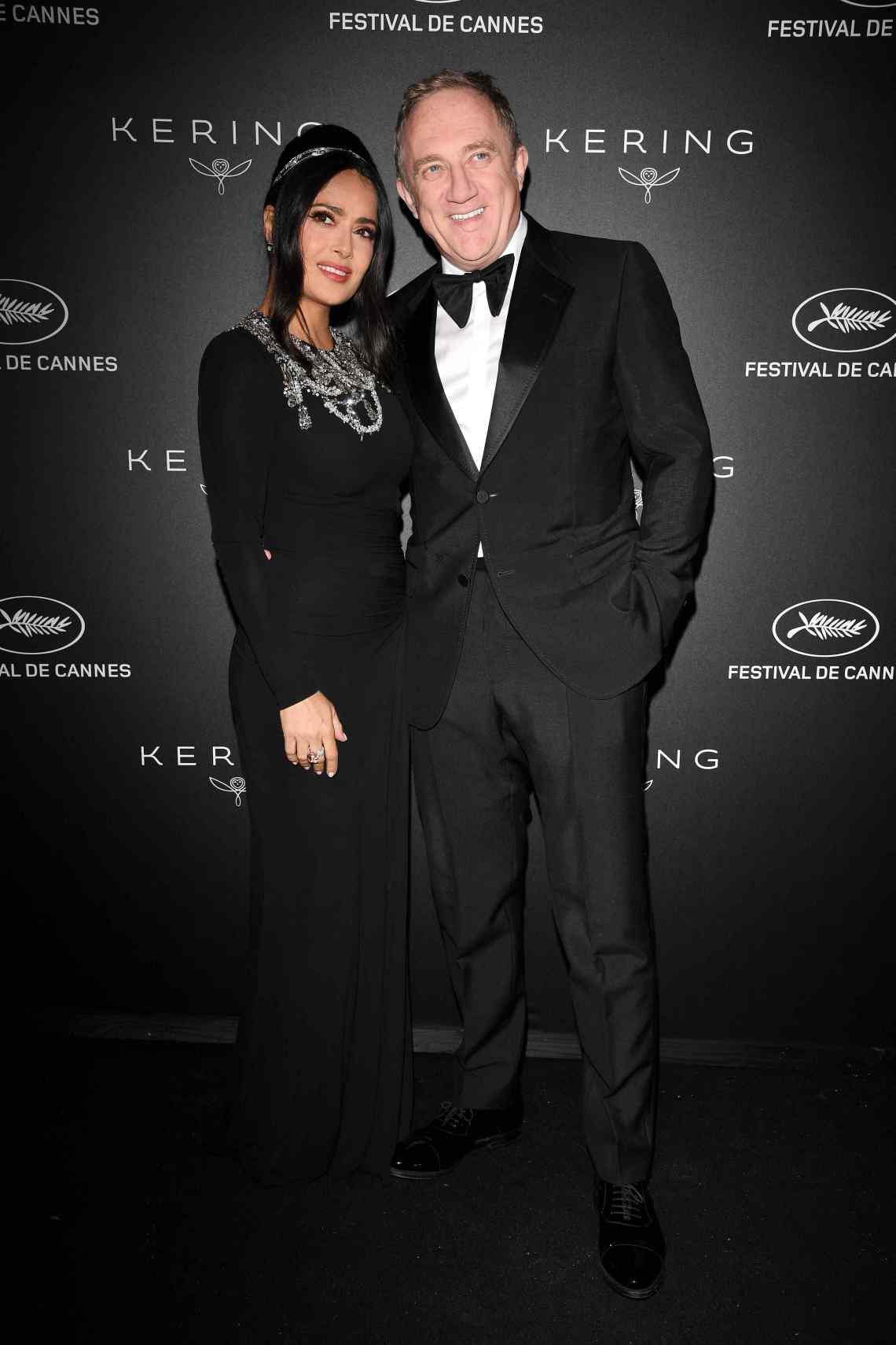 Salma Hayek, François-Henri Pinault Kering Women in Motion Awards 72 Cannes Film Festival