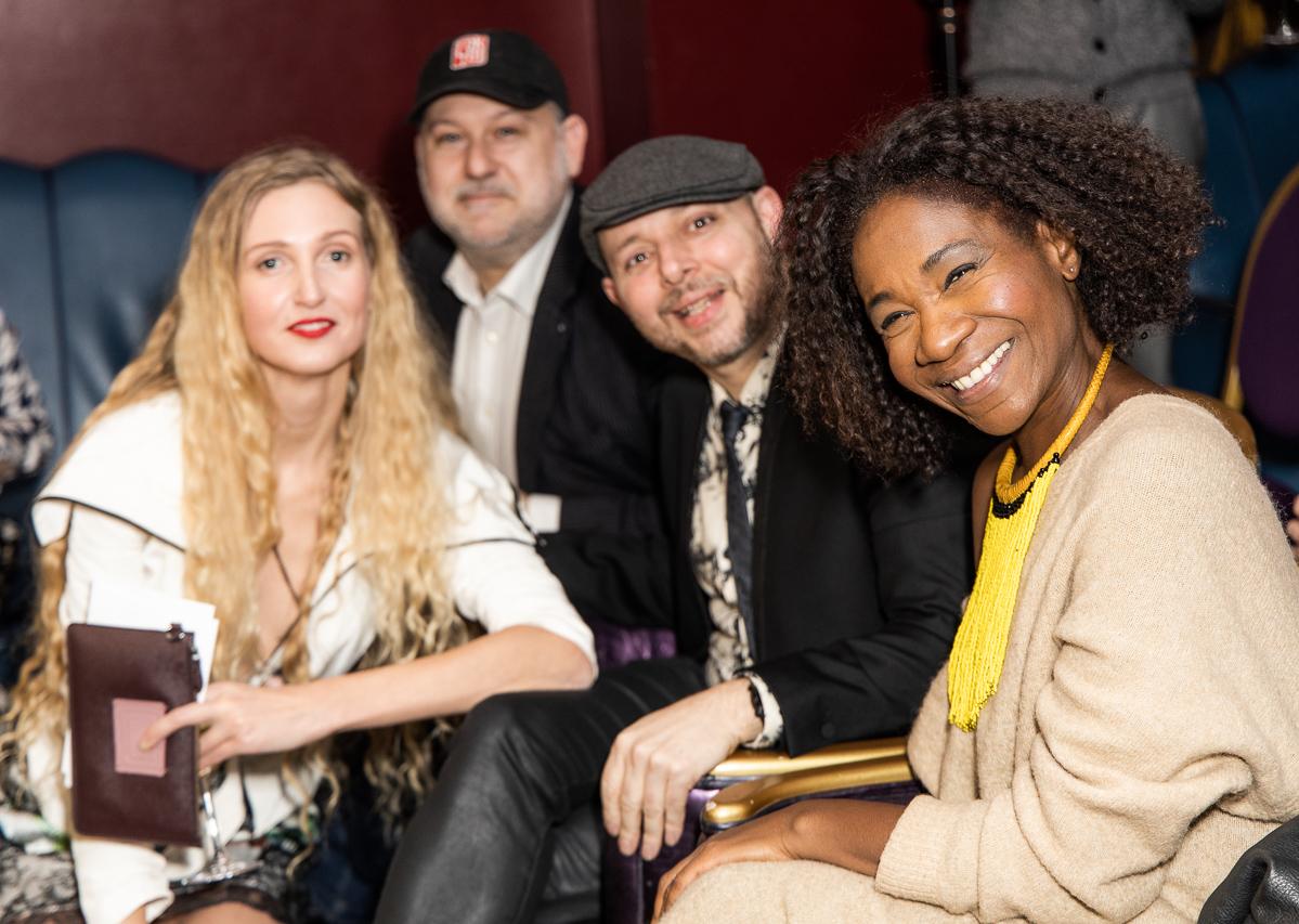 DAFTAS founder Tamara Orlova Alvarez (L) with judges (L-R) Adam Ziff, Tom Lawes, Karen Bryson