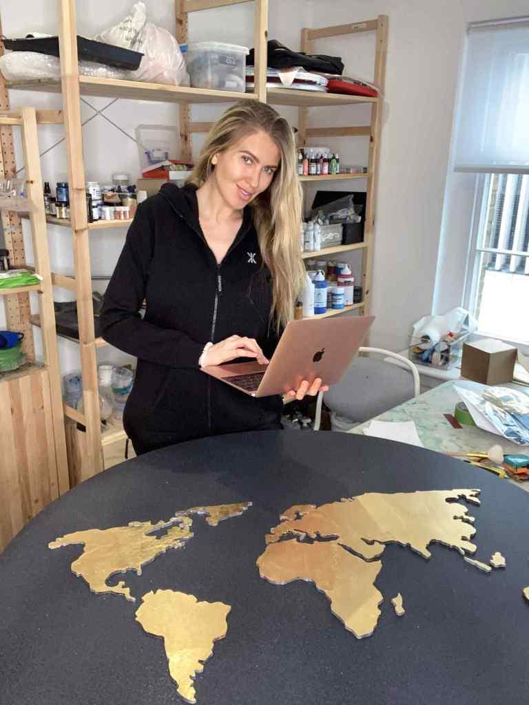 Natalia Kapchuk in her studio