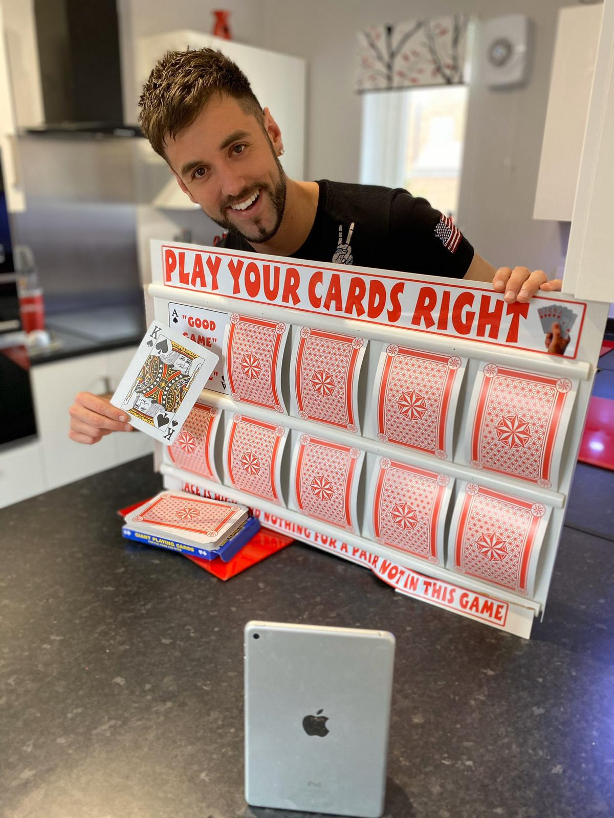 Rya's DIY Play Your Cards Right board
