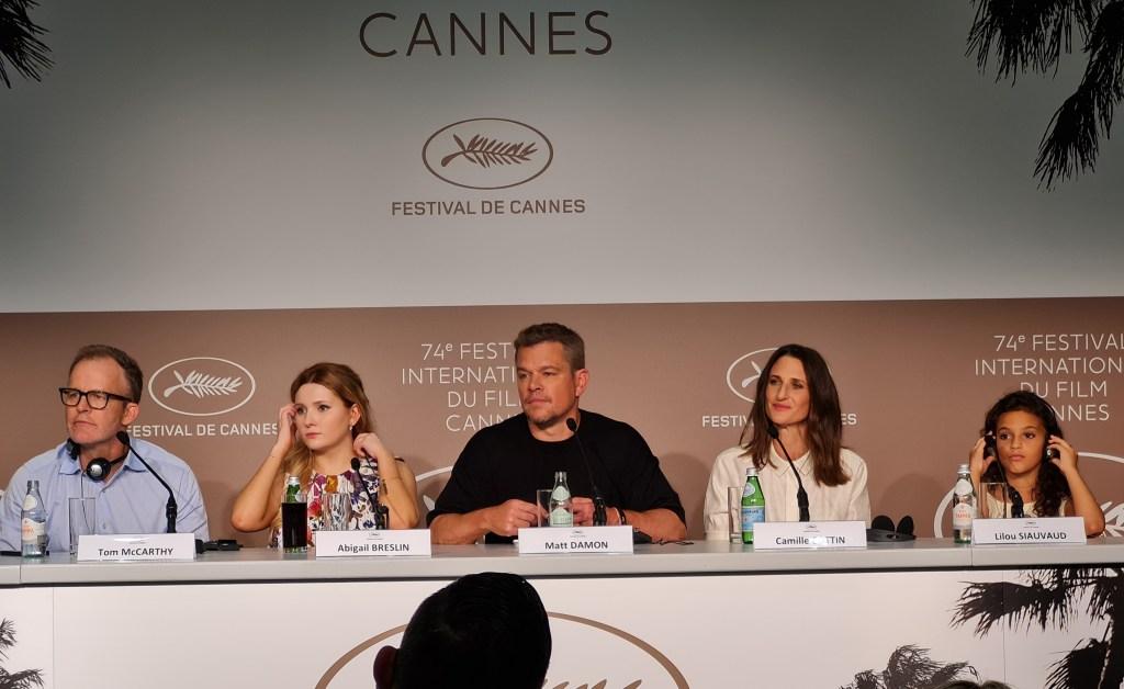 Tom McCarthy, Abigail Breslin, Matt Damon, Camile Cotti, Lilou Siauvaud