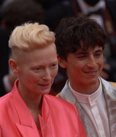 Tilda Swinton and Timothée Chalamet © Day Night TV