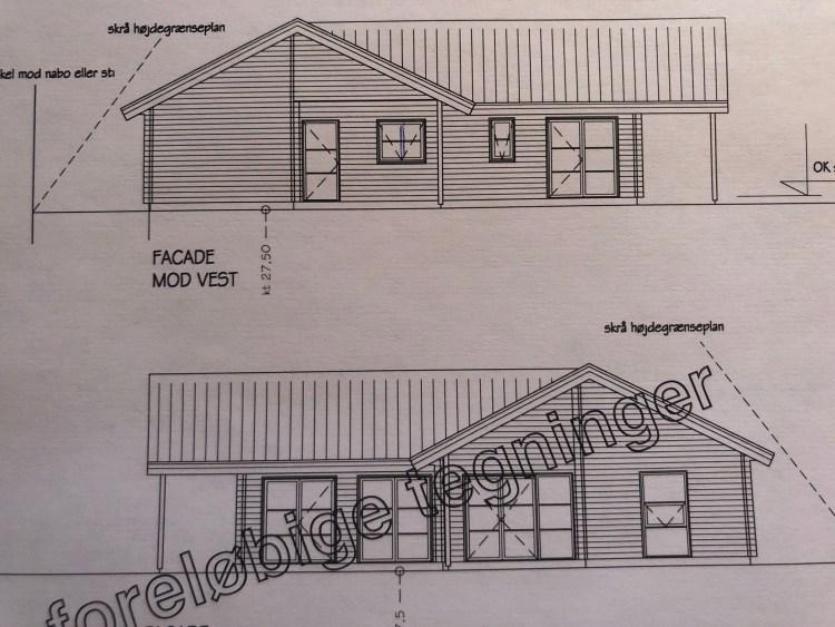 Tegning af nyt hus