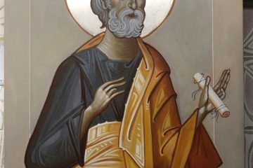 The finished icon of St. Peter