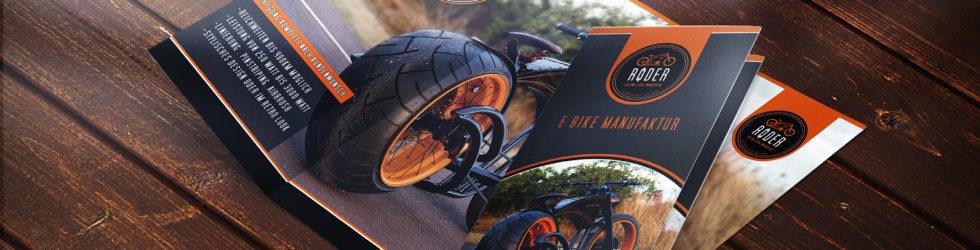 Tri-Folder Gestaltung Röder-Bikes