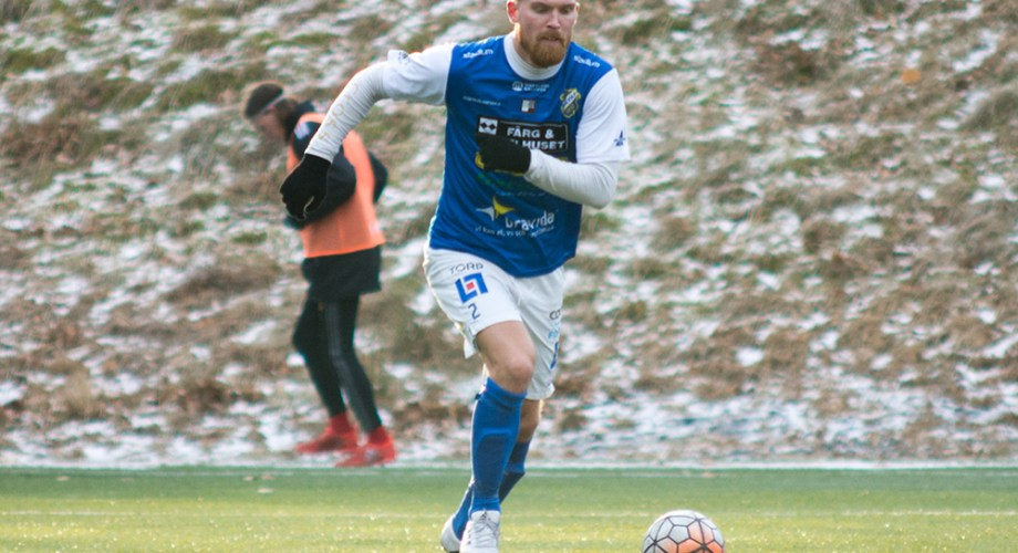 Robert Kjellman i segermatchen mot Stenungsunds IF. FOTO: Tomas Sandström