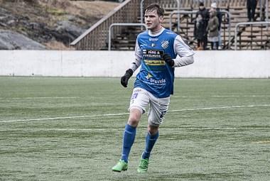 Bragi Bergsson i träningsmatch mot Sävedalens IF. FOTO: Tomas Sandström