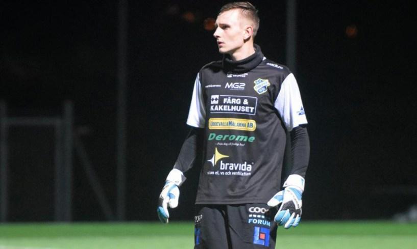 Robin Gustafsson i testmatchen i november. FOTO: Erik Weiefors, Bohusläningen