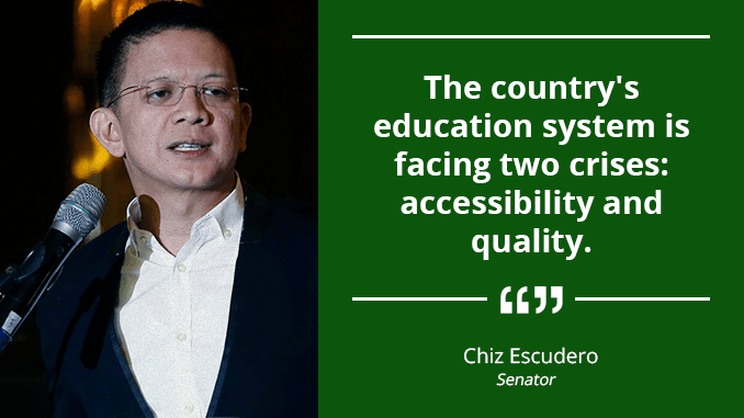Education Sector Should Gear Toward Excellence in the International Scene – ESCUDERO