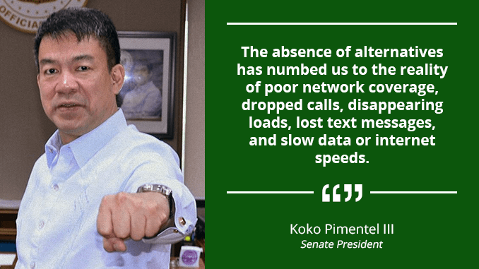 Third Telco Player to Spur Competition, Improve Services – PIMENTEL