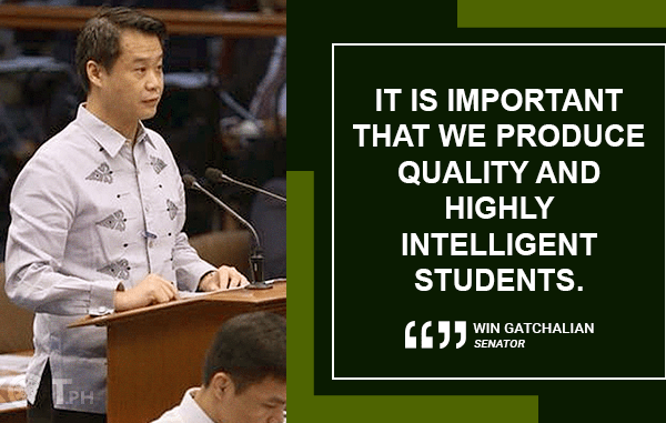 BETTER GRADUATES EXPECTED UNDER FREE COLLEGE LAW – GATCHALIAN
