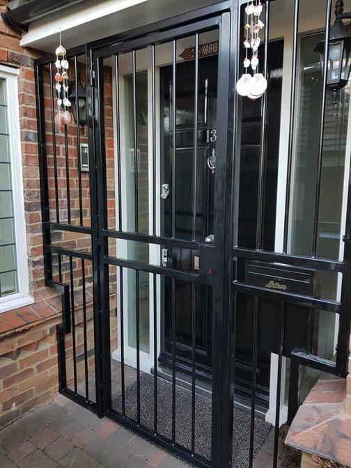metal modern security gates london