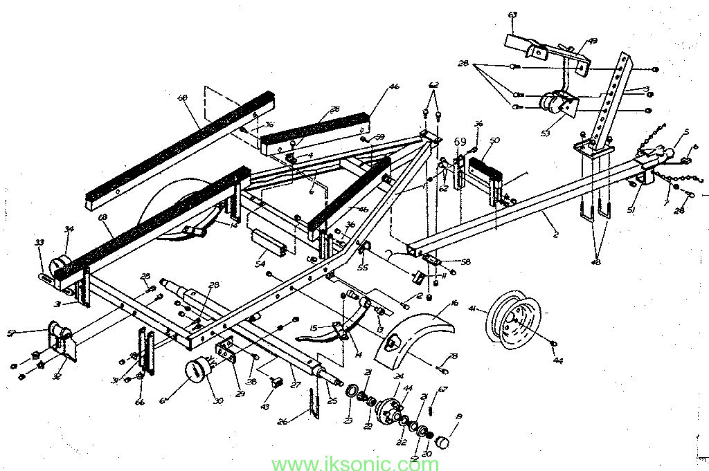 boat trailer diagram