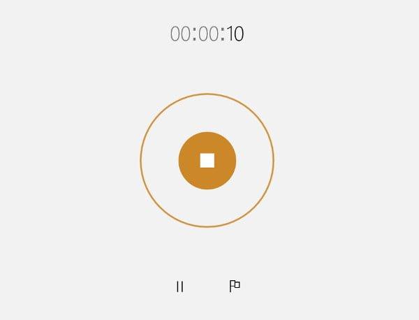録音を終了するときは■を押す。