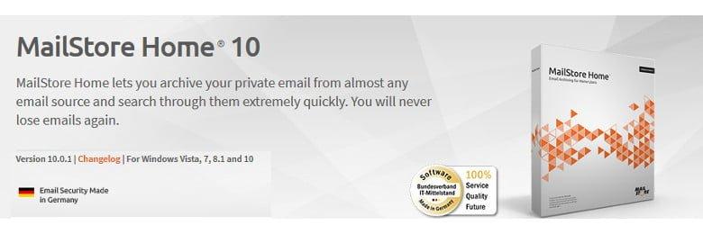 Windows Live Mailのデータ移行にフリーソフトMailStore Homeを使う