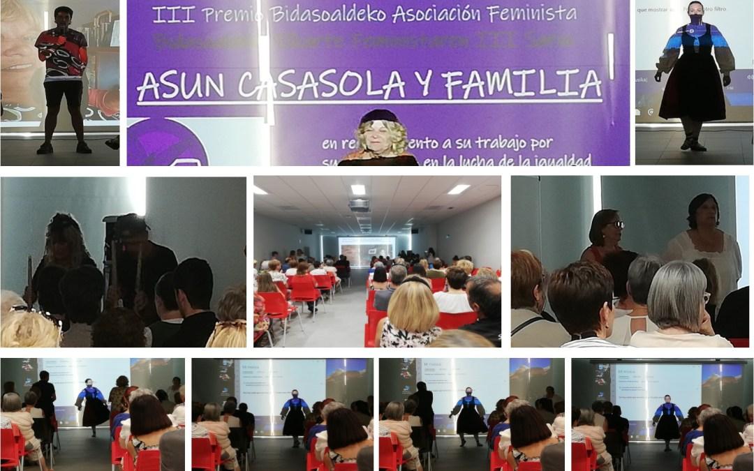 Homenaje y premio a Asun Casasola y Familia