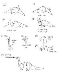 Rawr! Origami Dinosaur Instructions 2018