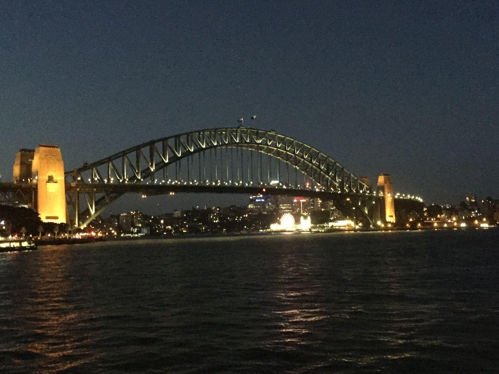 Harbour Bridge Sydney at night