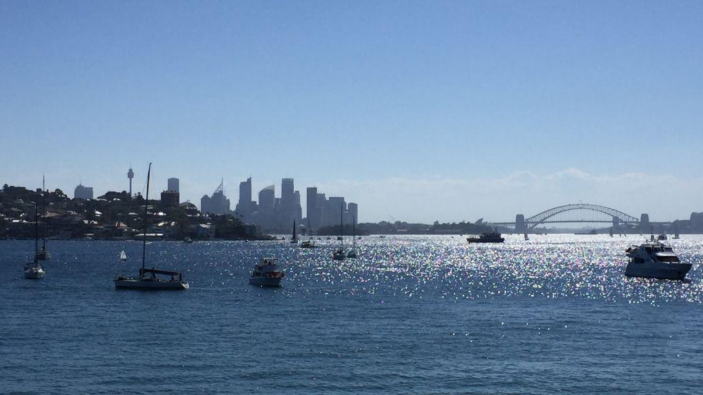 View Harbour Sydney with Harbour Bridge and CBD