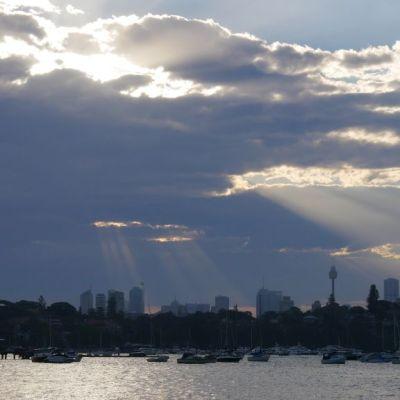 Sunset Sydney from Rose Bay Beach
