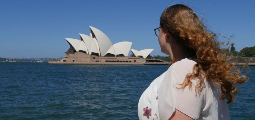 De echte toerist uithangen in Sydney