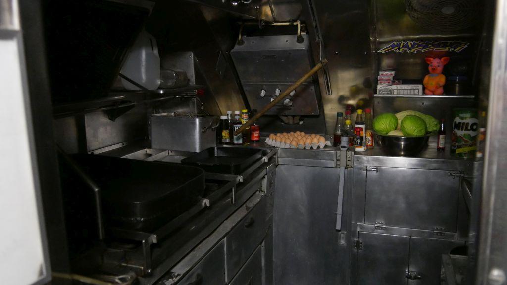 Keuken in de onderzeeboot