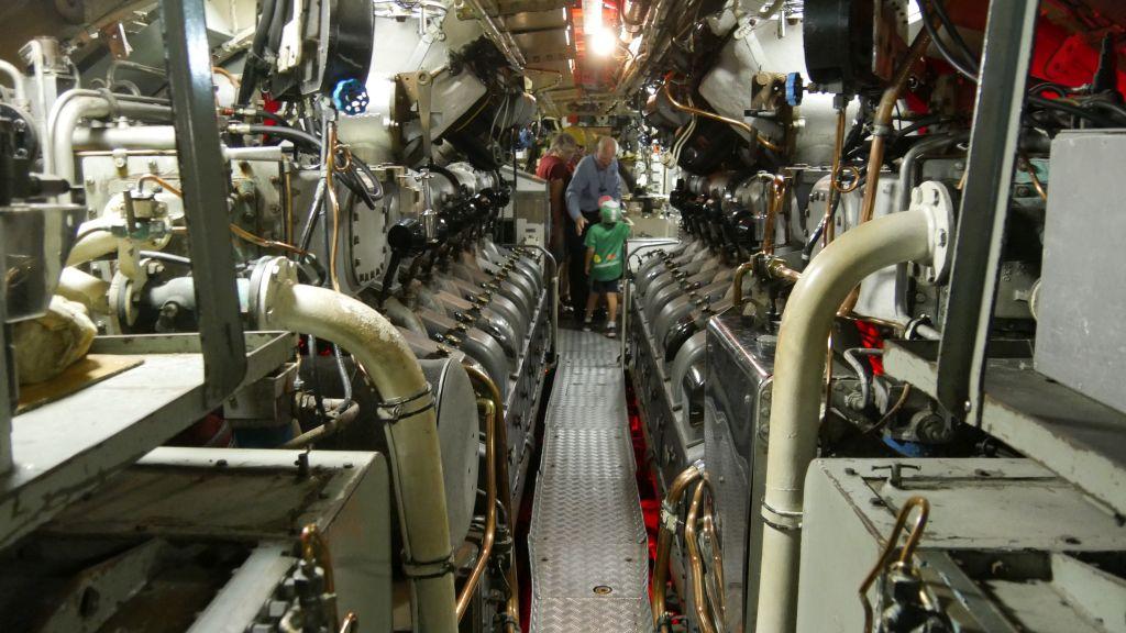 Machinekamer in de onderzeeboot