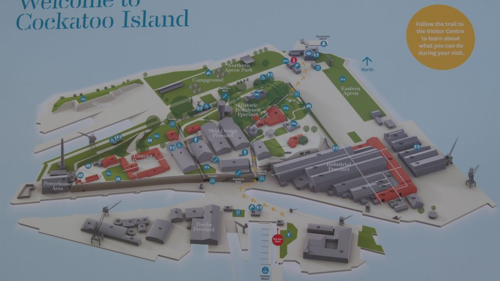 Plattegrond van Cockatoo Island