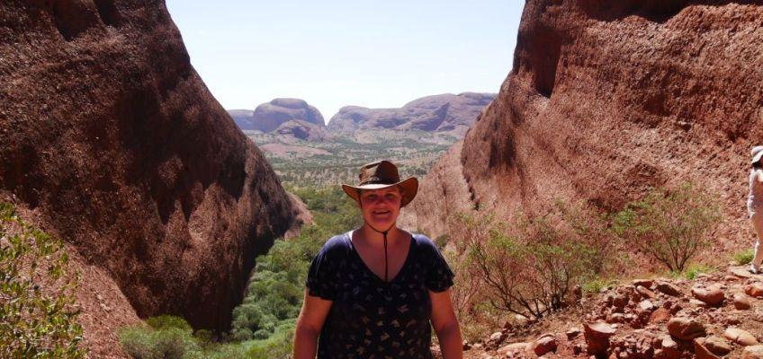 Uitzicht over de grote vlaktes in Uluru Australië