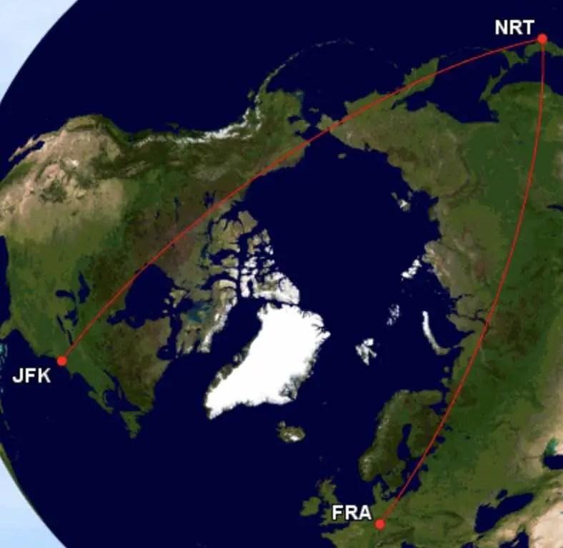 Asia Miles - Langste afstanden - Frankfurt - Tokyo - New York