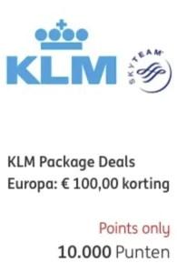 KLM package deal ING rentepunten 1