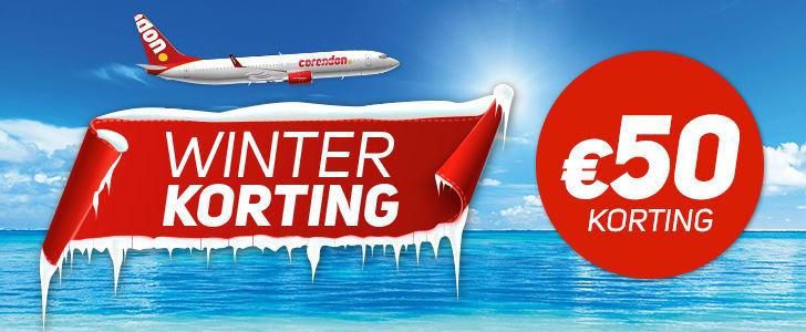 Winterkorting bij Corendon! Boek t/m 22 december en ontvang €50,- KORTING ook voor zonvakanties :)