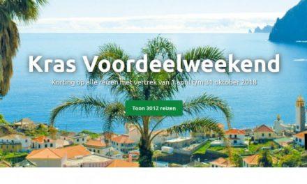 Tot wel 150,- p.p. korting bij boeken van vakantie bij KRAS via ikwilopvakantie.nl