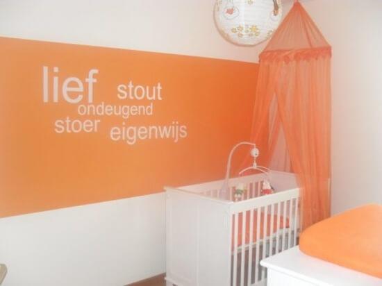 Babykamers in verschillende kleuren  ter inspiratie