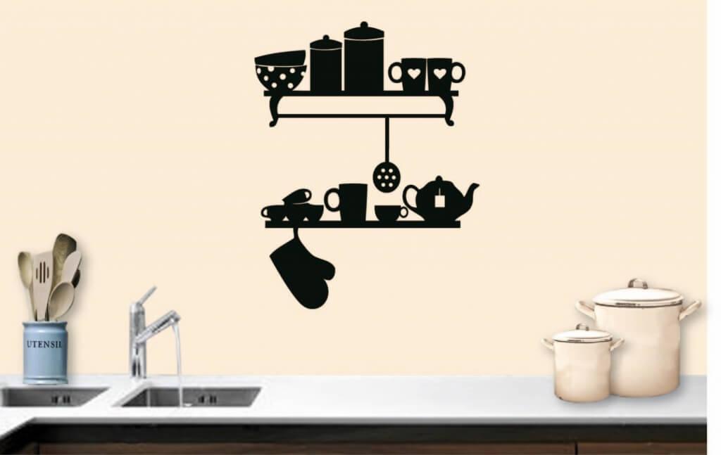 Muurstickers voor in de keuken  10 leuke voorbeelden
