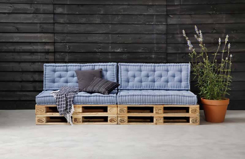 Inspiratie de trendy geverfde pallet loungeset in jouw