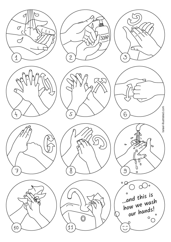 hand washing coloring pages