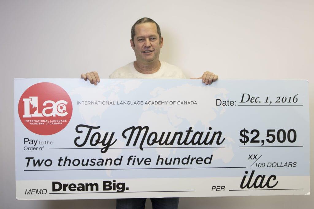 ILAC Donates $2,500 to the 2016 Toy Mountain Drive