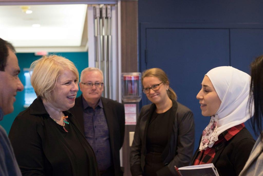 Deb Matthews with Syrian Girls