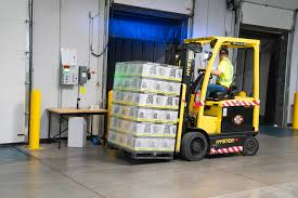 forklift carrying goods