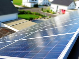 home with a solar panel
