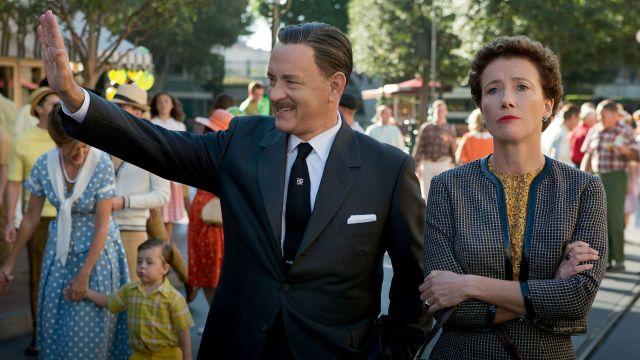 Walt Disney e P. L. Travers nel film