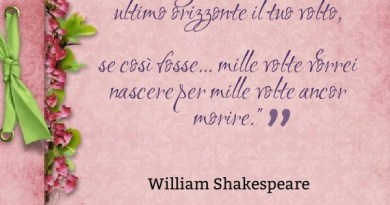 Amore e morte william shakespeare citazione