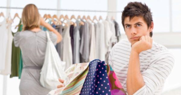shopping con il fidanzato